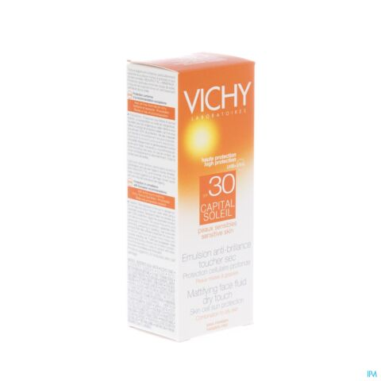 Vichy Idéal Soleil Emulsion Anti-Brillance Toucher Sec Peau Sensible Mixte à Grasse IP30 Tube 50ml