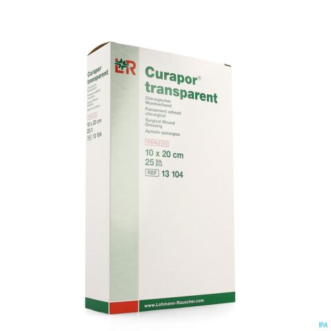 CURAPOR TRANSPARENT STERIL 10CMX20CM 25 13104