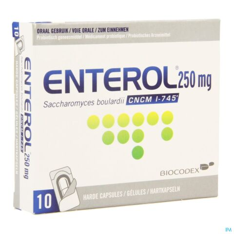 Enterol 250mg 10 Gélules sous Blister
