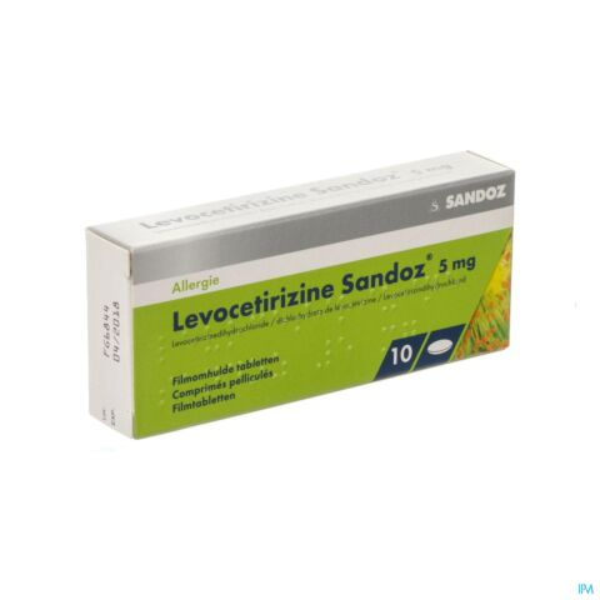 LEVOCETIRIZINE SANDOZ 5 MG COMP ENROB. 10 X 5 MG