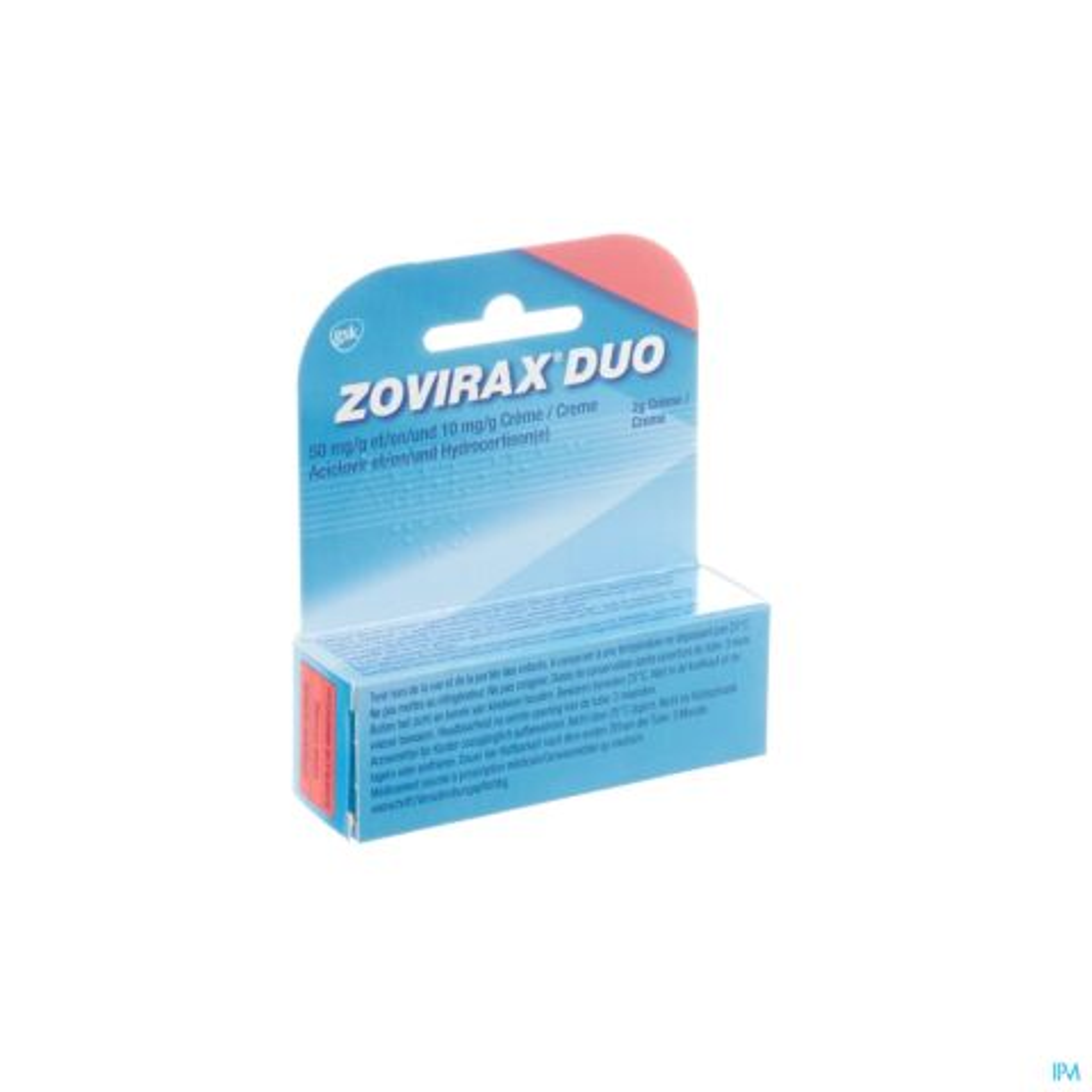 ZOVIRAX DUO 50 MG/G + 10 MG/G CREME TUBE 2 G