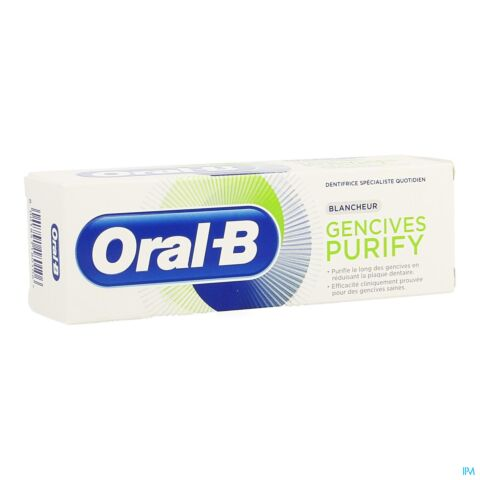 Oral-B Gencives Purify Nettoyage Intense Dentifrice Tube 75ml
