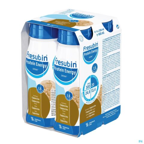 Fresubin Protein Energy Drink Cappuccino Bouteille 4x200ml