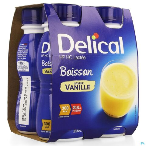 DELICAL BOISSON LACTEE HP-HC VANILLE 4X200ML