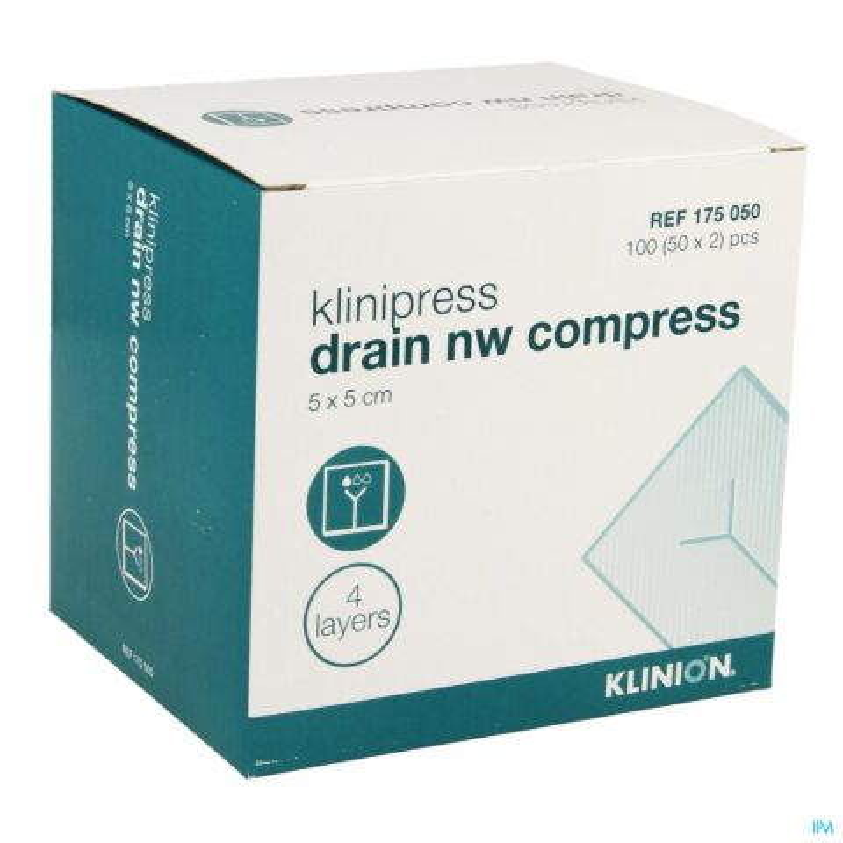 KLINION CP DRAINAGE N/WOV.4PL 5X 5CM 50X2 4175050