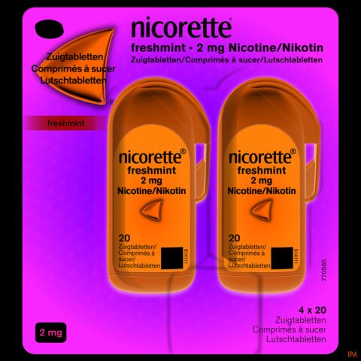 Nicorette Freshmint 2mg 80 Comprimés à Sucer