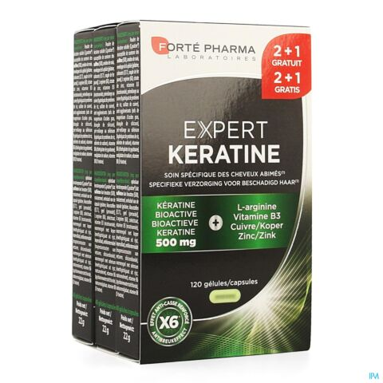 Forté Pharma Expert Keratine 120 Gélules PROMO 2+1 Mois Gratuit