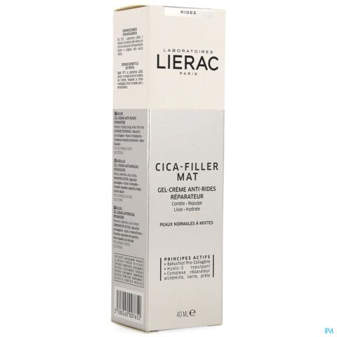 LIERAC CICA FILLER GEL CR A/RIDES REPAR. TUBE 40ML