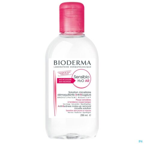 Bioderma Sensibio H2O AR Solution Micellaire Anti-Rougeurs Peaux Sensibles Flacon 250ml