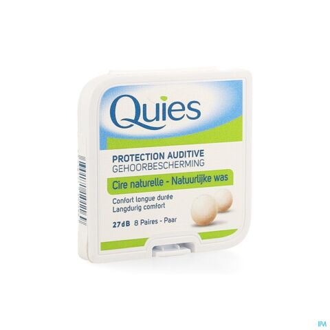 Quies Protection Auditive Cire Naturelle 27dB 8 Paires