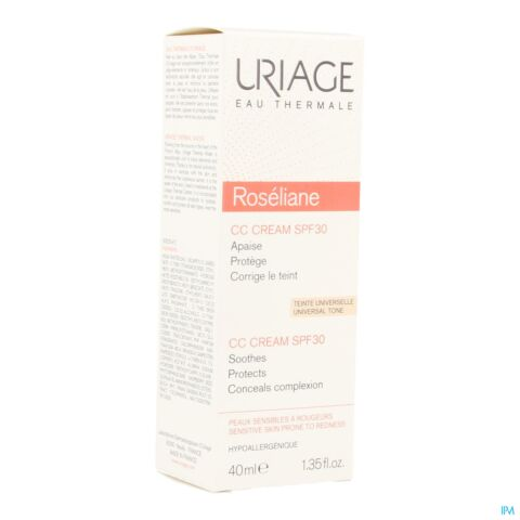 Uriage Roséliane CC Cream IP30 Crème Hydra-Protectrice Tube 40ml