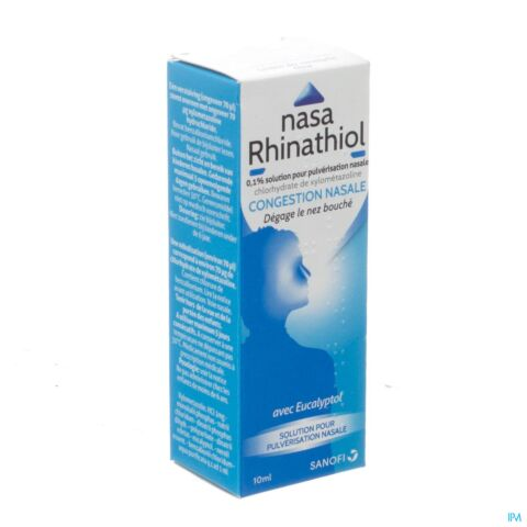 Nasa Rhinathiol Congestion Nasale Solution pour Pulvérisation Nasale 10ml