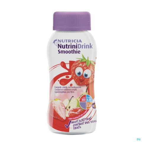 NUTRINIDRINK SMOOTHIE FRUIT ROUGES FL 200ML