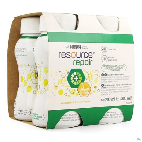 RESOURCE REPAIR VANILLE BOUTEILLE 4X200ML