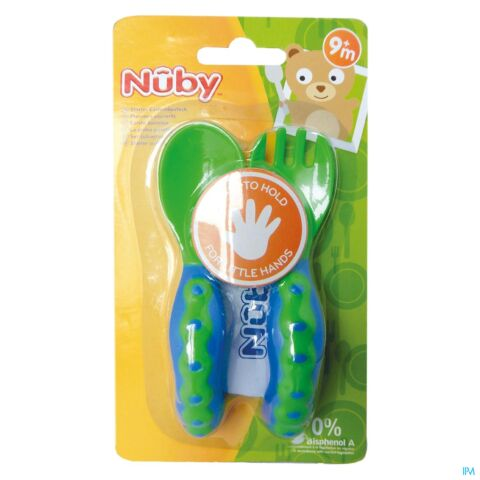 NUBY COUVERTS 1 FOURCHETTE + 1 CUILLERE +9M