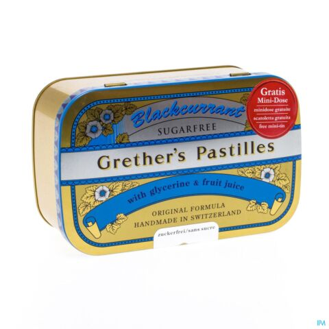 GRETHER'S PASTILLES BLACKCURRANT SS PAST 440G