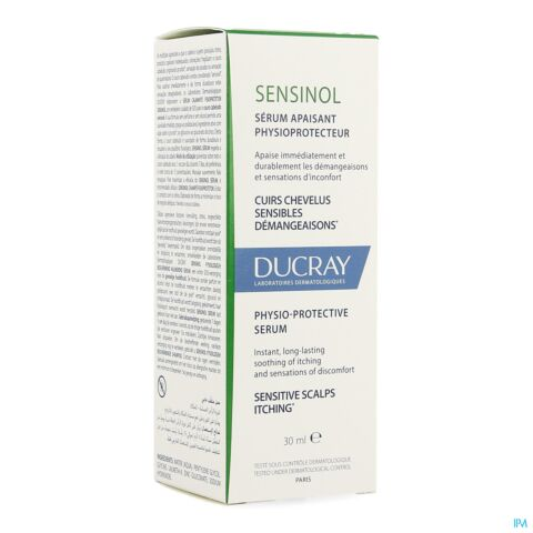 Ducray Sensinol Sérum Apaisant Physioprotecteur Cuir Chevelu Sensible Spray 30ml