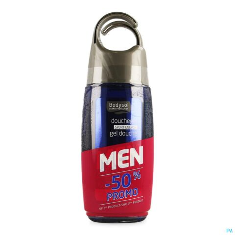 Bodysol Men Gel Douche Sport 2x250ml 2eme 50