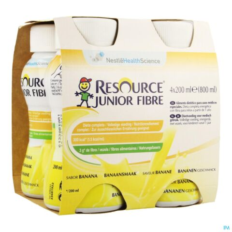 RESOURCE JUNIOR FIBRE BANANE 4X200ML