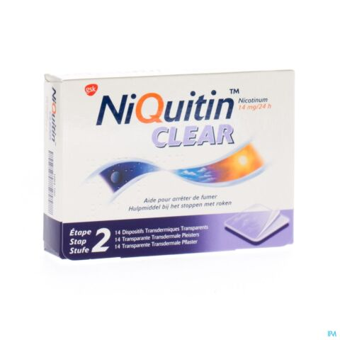 NiQuitin Clear Patch 14mg 14 Patchs