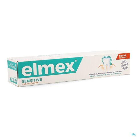 Elmex Sensitive Dentifrice Nouvelle Formule Tube 75ml