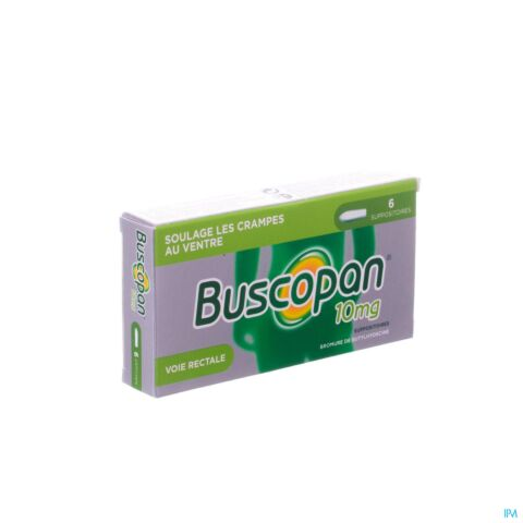 Buscopan 10mg Crampes au Ventre 6 Suppositoires