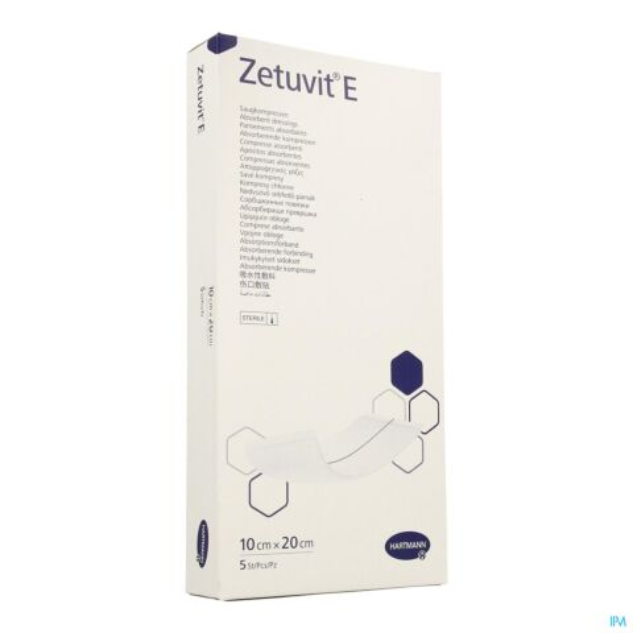 Hartmann Zetuvit E Pansements Absorbants Doux Stériles 10cmx20cm 5 Pièces