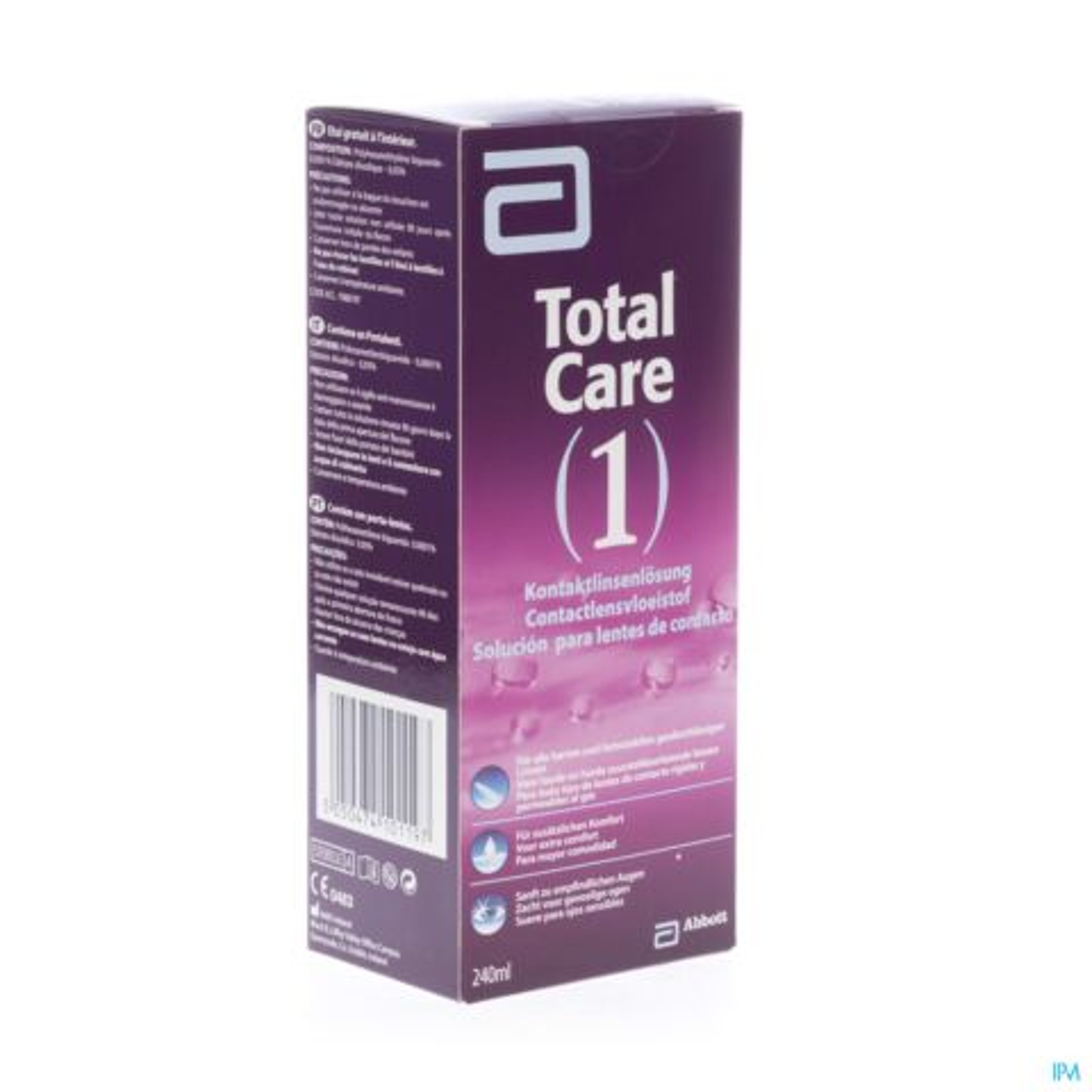TOTAL CARE 1 ALL-IN-ONE LENTILLES DURES 240ML+ETUI