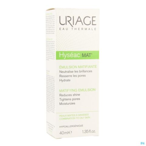 Uriage Hyséac Mat' Emulsion Matifiante Peaux Mixtes à Grasses Tube 40ml