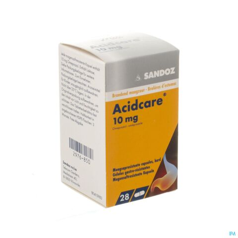 ACIDCARE 10 MG SANDOZ CAPS GASTRO RES 28 X 10 MG
