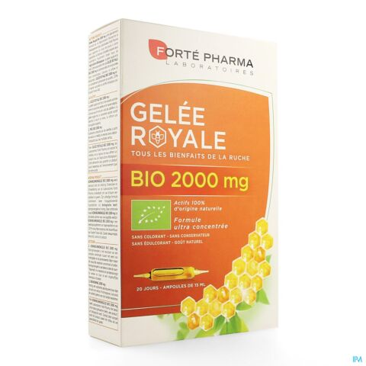 Forté Pharma Gelée Royale Bio 2000mg 20 Ampoules
