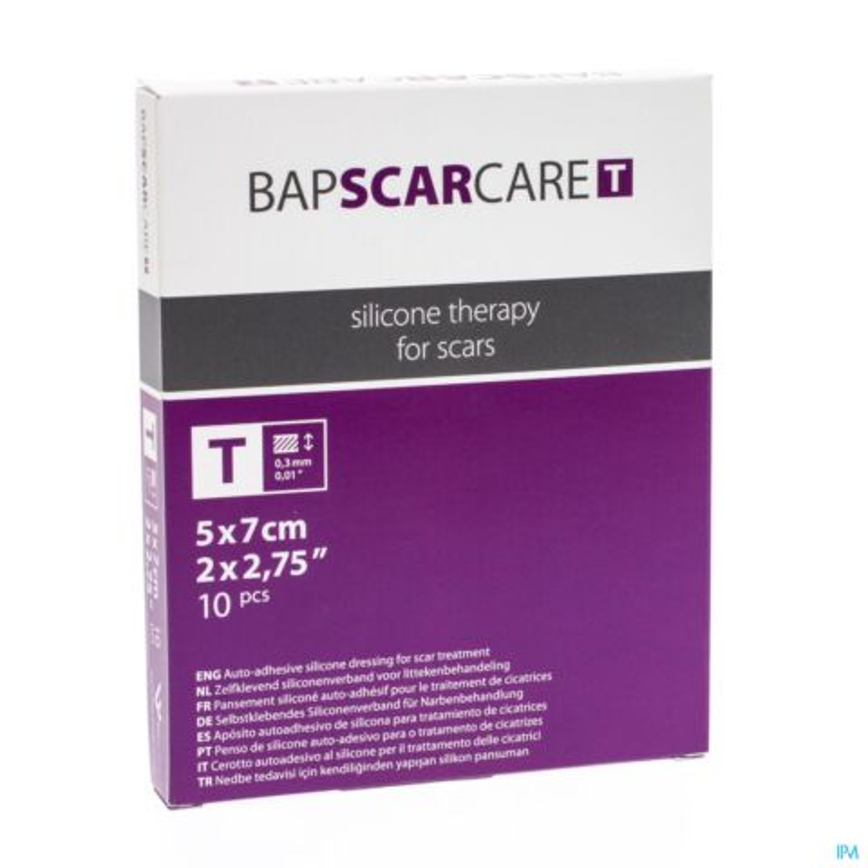 Bap Scar Care T Pans Fin Transp 5x 7cm 10 600507