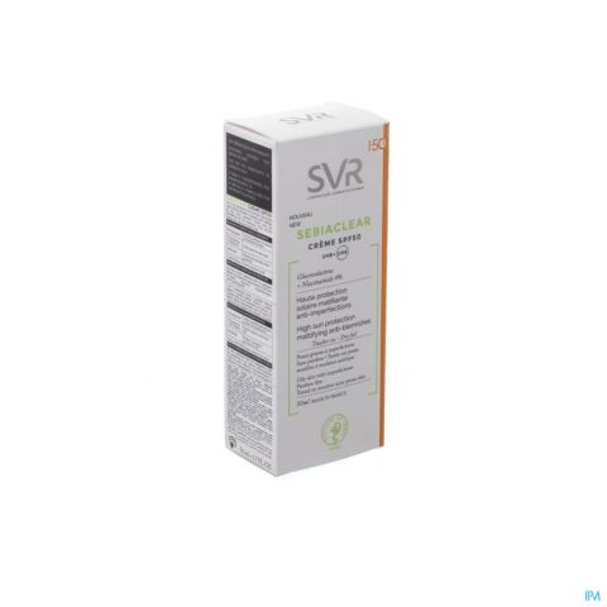 SVR Sebiaclear Crème IP50 Haute Protection Solaire Matifiante Anti-Imperfections Tube 50ml