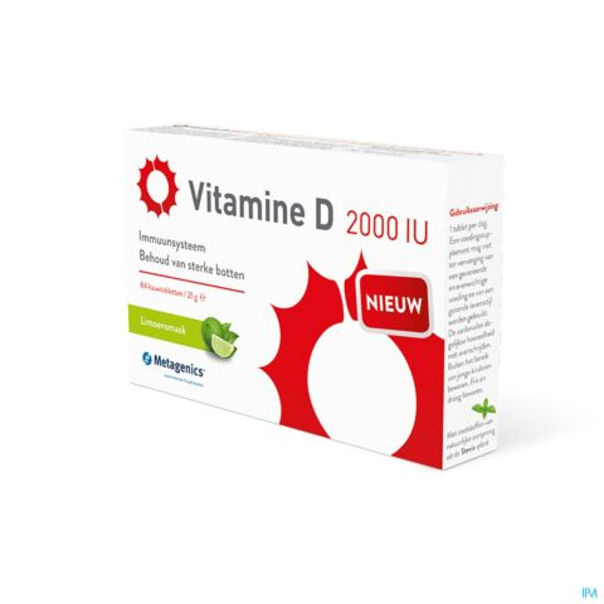 Metagenics Vitamine D 2000iu 84 Comprimés à Mâcher
