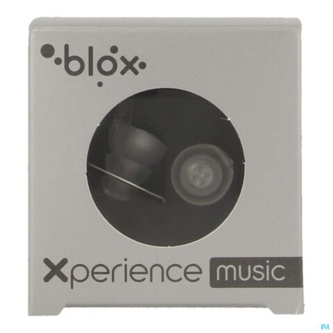 Blox Xperience Music Protections Auditives Concert Transparent 1 paire + Etui de Rangement en Aluminium