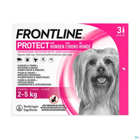 Frontline Protect Spot On Sol Chien 2-5kg Pipet 3