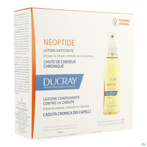 Ducray Neoptide Femmes Lotion Antichute Flacons Spray 3x30ml