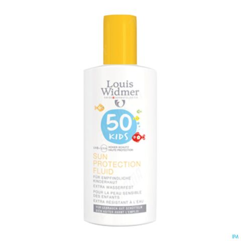 Louis Widmer Sun Kids Protection Fluide Sans Parfum IP50+ Flacon 100ml