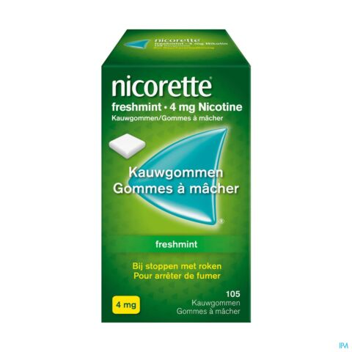 Nicorette Freshmint 4mg Nicotine 105 Gommes à Mâcher
