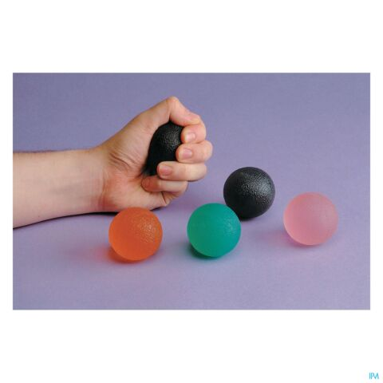 BALLE EXERCICE GEL DOIGTS-MAIN MI MOU VERT ADVYS