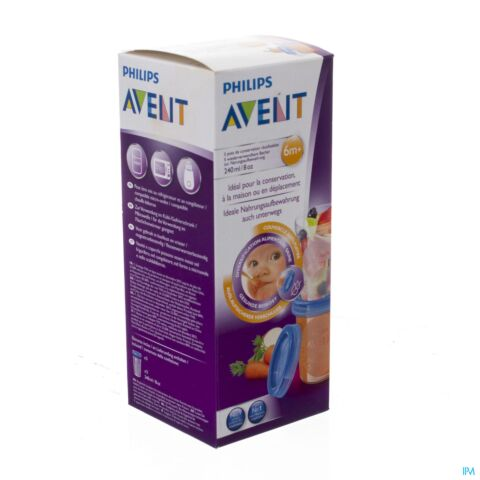 AVENT VIA NATURAL POTS CONSEVATION 240ML