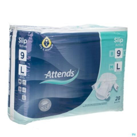 ATTENDS SLIP ACTIVE 9 LARGE 1X28