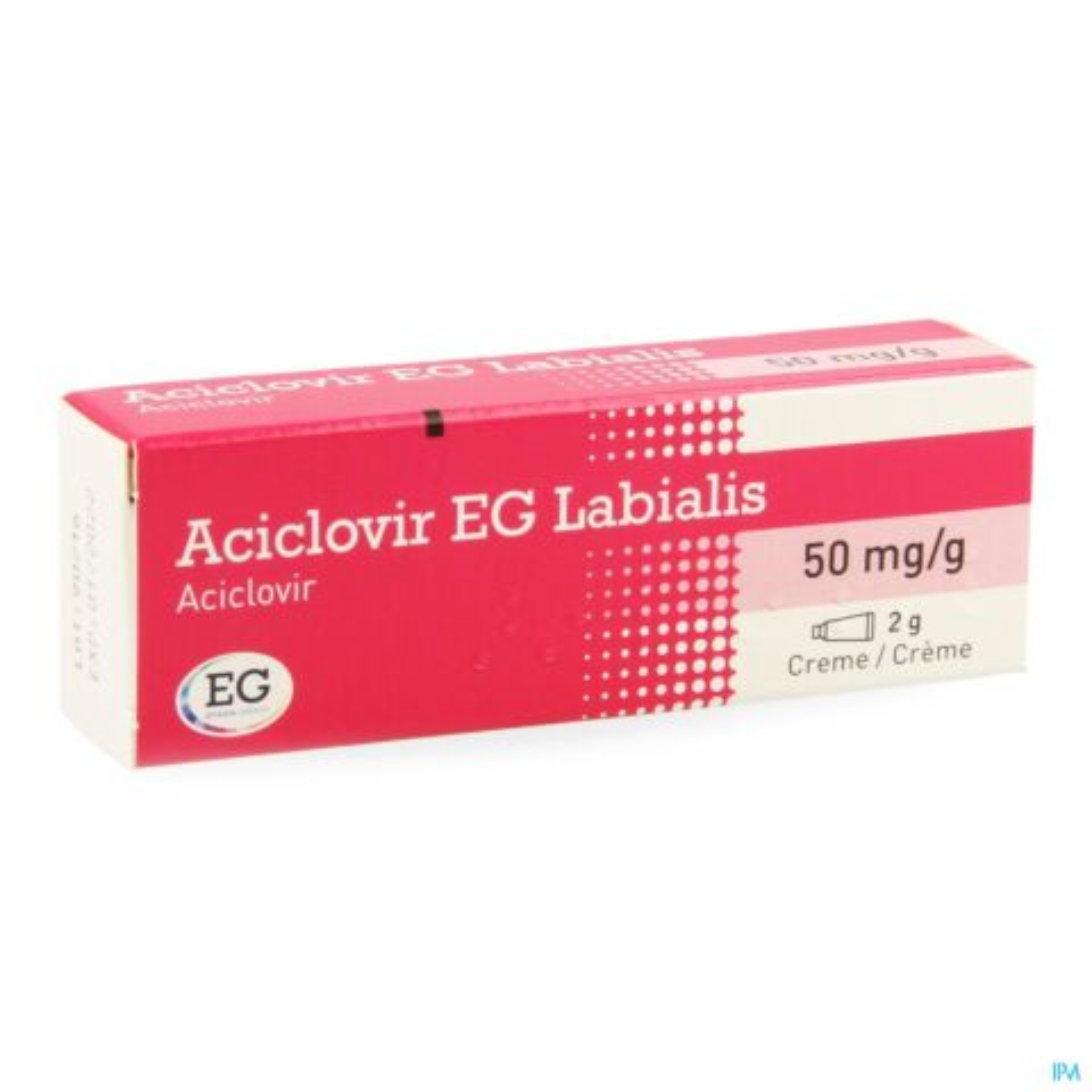 Aciclovir EG Labialis 50mg/g Crème Tube 2g