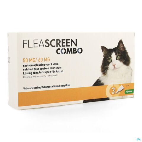 Fleascreen Combo 50mg/60mg Spot On Chat Pipet 3