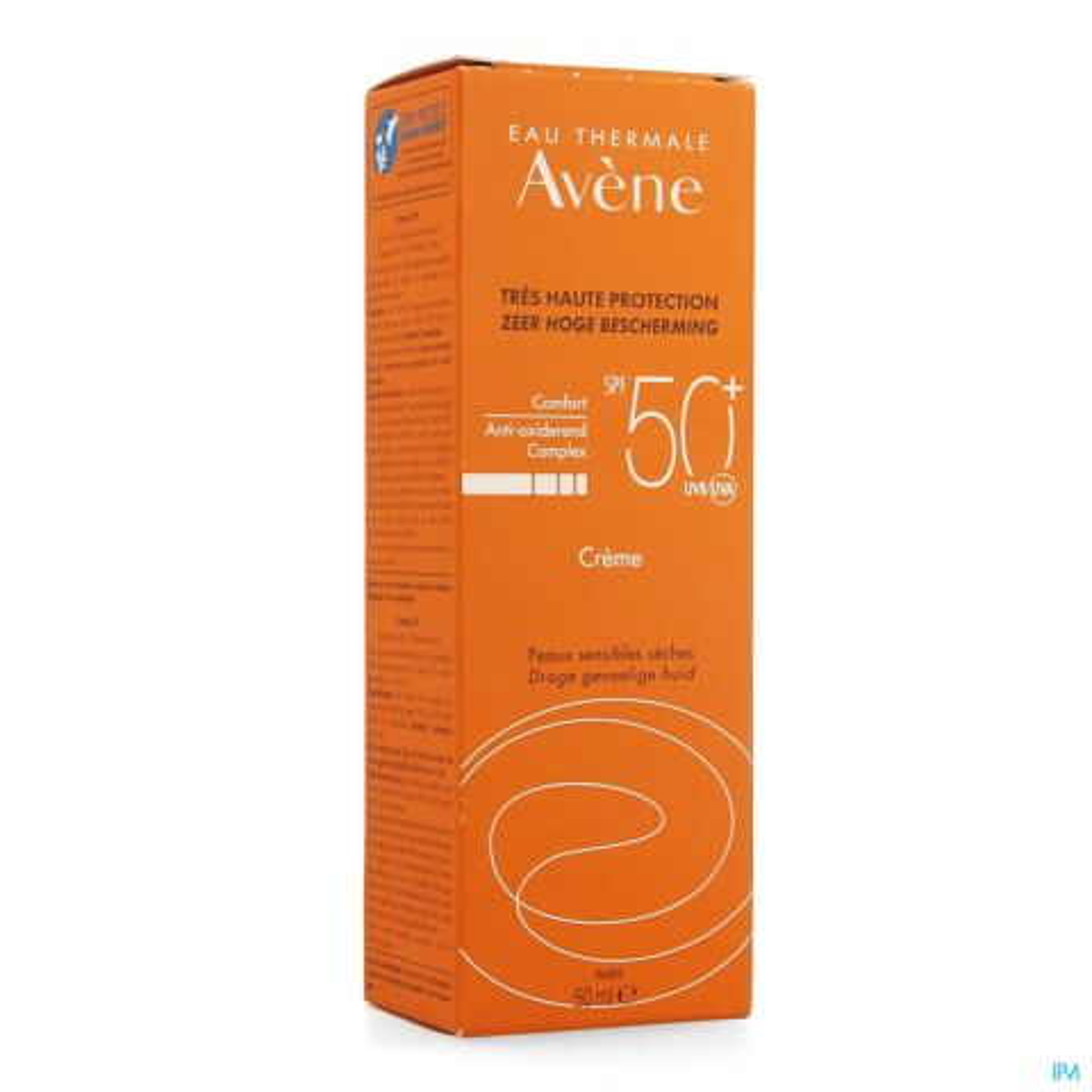 Avène Protection Solaire Crème Peaux Sensibles Sèches Visage IP50+ Tube Pompe 50ml