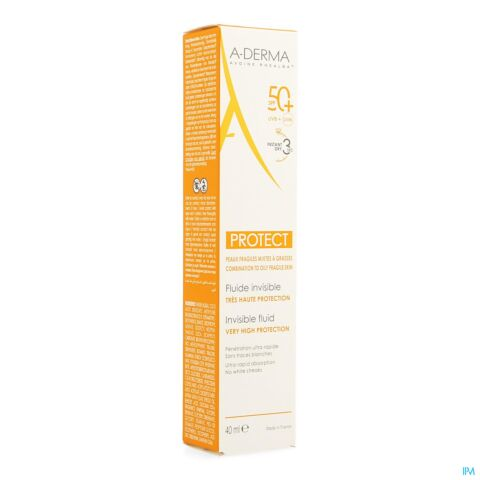 A-Derma Protect Fluide Invisible IP50+ Tube 40ml
