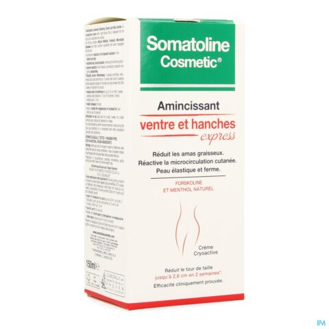 Somatoline Cosmetic Amincissant Ventre et Hanches Express Tube 150ml