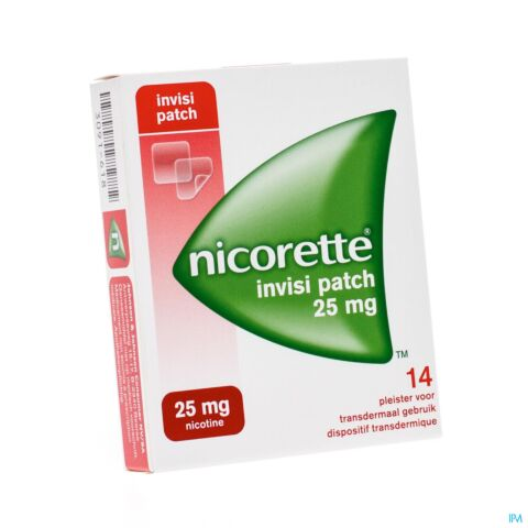 Nicorette Invisi Patch 25mg Nicotine 14 Patchs