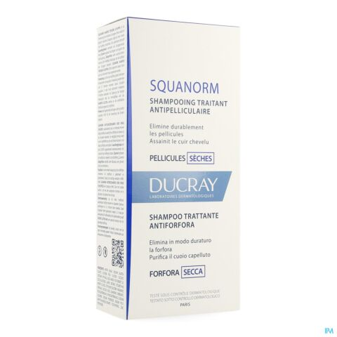 Ducray Squanorm Shampooing Antipelliculaire Pellicules Sèches Flacon 200ml