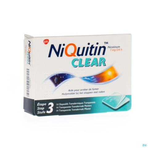 NiQuitin Clear Patch 7mg 14 Patchs